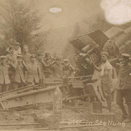 21er in Stellung Vogesen 07.08.1916