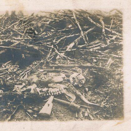 Überreste eines Soldaten 02.06.1918