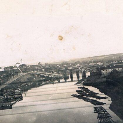 zerstörte Brücke bei Grochno