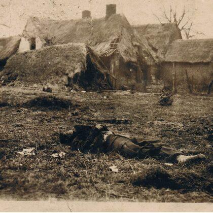 zerstörte Häuser Ort unbekannt