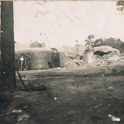 zerstörter Bunker - Festung Osowiec 1915
